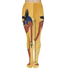 Anubis, Ancient Egyptian God Of The Dead Rituals  Women s Tights by FantasyWorld7