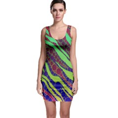 Florescent Zebra Print Pattern  Bodycon Dresses by OCDesignss