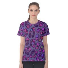 Purple Cheetah Pattern  Women s Cotton Tees by OCDesignss