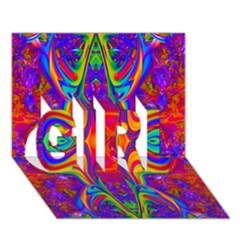 Abstract 1 Girl 3d Greeting Card (7x5)