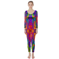 Abstract 1 Long Sleeve Catsuit by icarusismartdesigns