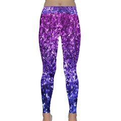 Midnight Glitter Yoga Leggings by KirstenStarFashion