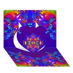 Abstract 2 Heart 3d Greeting Card (7x5)  by icarusismartdesigns