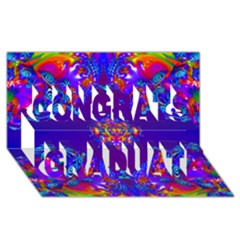 Abstract 2 Congrats Graduate 3d Greeting Card (8x4)  by icarusismartdesigns