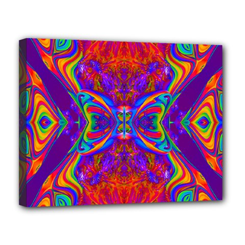 Butterfly Abstract Canvas 14  X 11  (stretched) by icarusismartdesigns