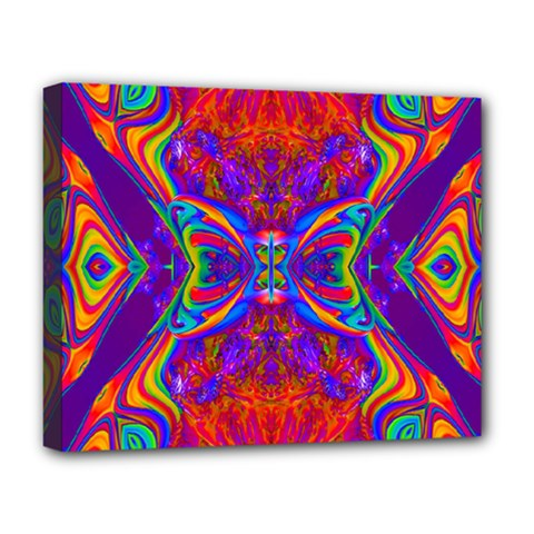 Butterfly Abstract Deluxe Canvas 20  X 16  (stretched) by icarusismartdesigns