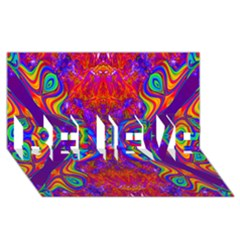 Butterfly Abstract Believe 3d Greeting Card (8x4) by icarusismartdesigns