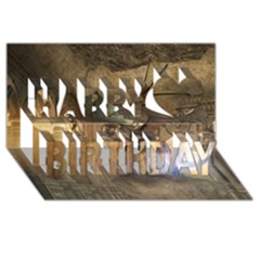 The Dragon Happy Birthday 3d Greeting Card (8x4)  by FantasyWorld7
