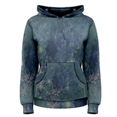 Vintage Floral In Blue Colors Women s Pullover Hoodies