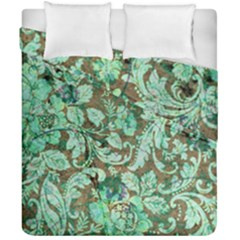 Beautiful Floral Pattern In Green Duvet Cover (double Size) by FantasyWorld7