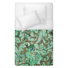 Beautiful Floral Pattern In Green Duvet Cover Single Side (single Size) by FantasyWorld7