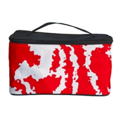 Migraine Red White Cosmetic Storage Cases by MoreColorsinLife