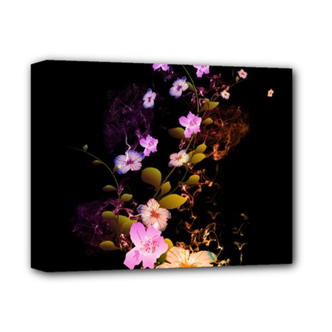 Awesome Flowers With Fire And Flame Deluxe Canvas 14  X 11  by FantasyWorld7