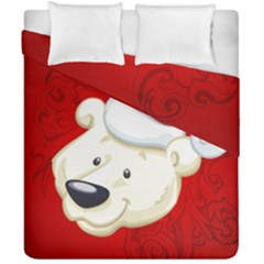 Funny Polar Bear Duvet Cover (double Size) by FantasyWorld7