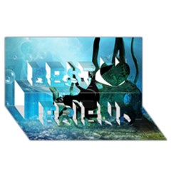 Orca Swimming In A Fantasy World Best Friends 3d Greeting Card (8x4)  by FantasyWorld7