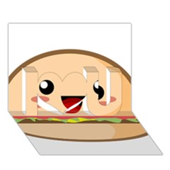 Kawaii Burger I Love You 3d Greeting Card (7x5)  by KawaiiKawaii