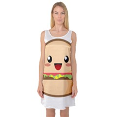 Kawaii Burger Sleeveless Satin Nightdresses by KawaiiKawaii