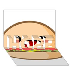 Kawaii Burger Hope 3d Greeting Card (7x5)  by KawaiiKawaii