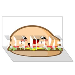 Kawaii Burger Believe 3d Greeting Card (8x4)