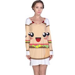 Kawaii Burger Long Sleeve Nightdresses