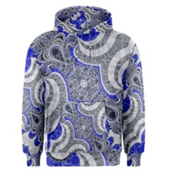 Bright Blue Abstract  Men s Pullover Hoodies by OCDesignss