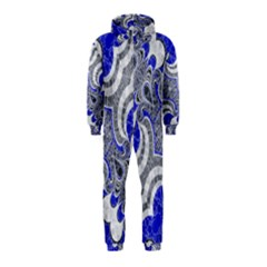 Bright Blue Abstract  Hooded Jumpsuit (kids) by OCDesignss