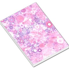 Lovely Allover Ring Shapes Flowers Pink Large Memo Pads by MoreColorsinLife
