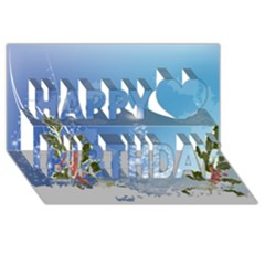 Christmas Tree Happy Birthday 3d Greeting Card (8x4)  by FantasyWorld7