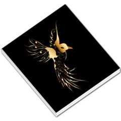 Beautiful Bird In Gold And Black Small Memo Pads
