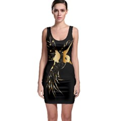 Beautiful Bird In Gold And Black Bodycon Dresses