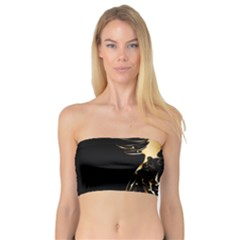 Beautiful Bird In Gold And Black Women s Bandeau Tops