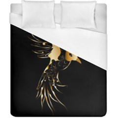 Beautiful Bird In Gold And Black Duvet Cover Single Side (double Size)
