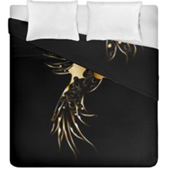 Beautiful Bird In Gold And Black Duvet Cover (king Size)