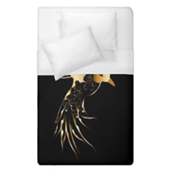 Beautiful Bird In Gold And Black Duvet Cover Single Side (single Size)