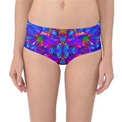 Abstract 4 Mid Waist Bikini Bottoms