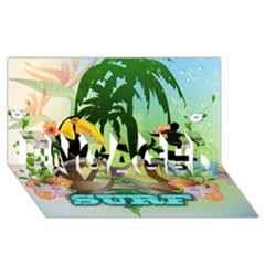 Surfing Engaged 3d Greeting Card (8x4)  by FantasyWorld7