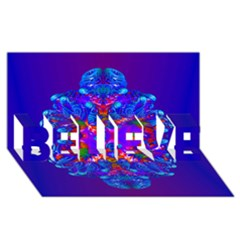 Abstract 5 Believe 3d Greeting Card (8x4)  by icarusismartdesigns