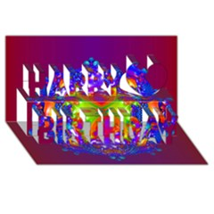 Abstract 6 Happy Birthday 3d Greeting Card (8x4)
