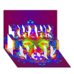 Abstract 6 Thank You 3d Greeting Card (7x5)  by icarusismartdesigns