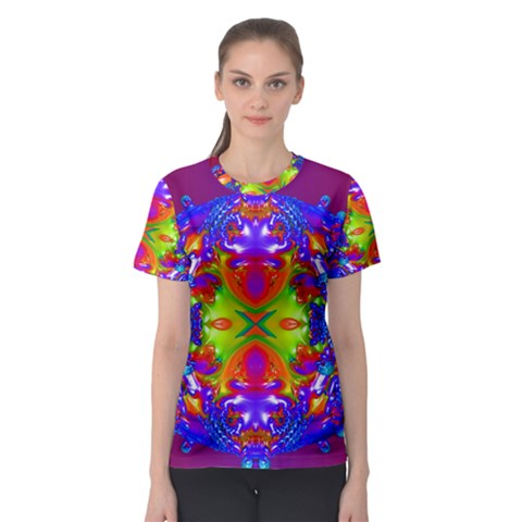 Abstract 6 Women s Sport Mesh Tees by icarusismartdesigns