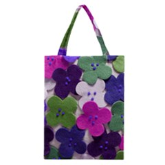 Cotton Flower Buttons  Classic Tote Bags by OCDesignss