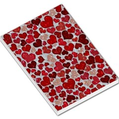 Sparkling Hearts, Red Large Memo Pads by MoreColorsinLife
