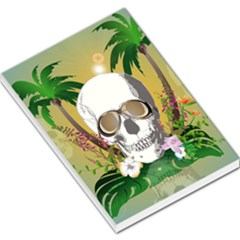Funny Skull With Sunglasses And Palm Large Memo Pads by FantasyWorld7
