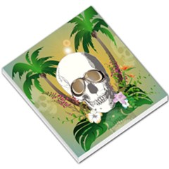 Funny Skull With Sunglasses And Palm Small Memo Pads by FantasyWorld7