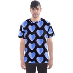Heart Pattern Blue Men s Sport Mesh Tees by MoreColorsinLife