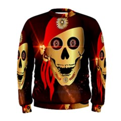 Funny, Happy Skull Men s Sweatshirts by FantasyWorld7