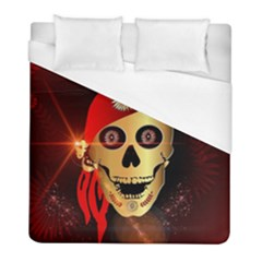 Funny, Happy Skull Duvet Cover Single Side (twin Size) by FantasyWorld7
