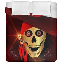 Funny, Happy Skull Duvet Cover (double Size) by FantasyWorld7