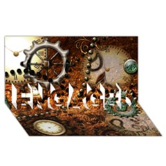 Steampunk In Noble Design Engaged 3d Greeting Card (8x4)