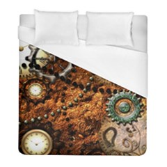 Steampunk In Noble Design Duvet Cover Single Side (twin Size) by FantasyWorld7